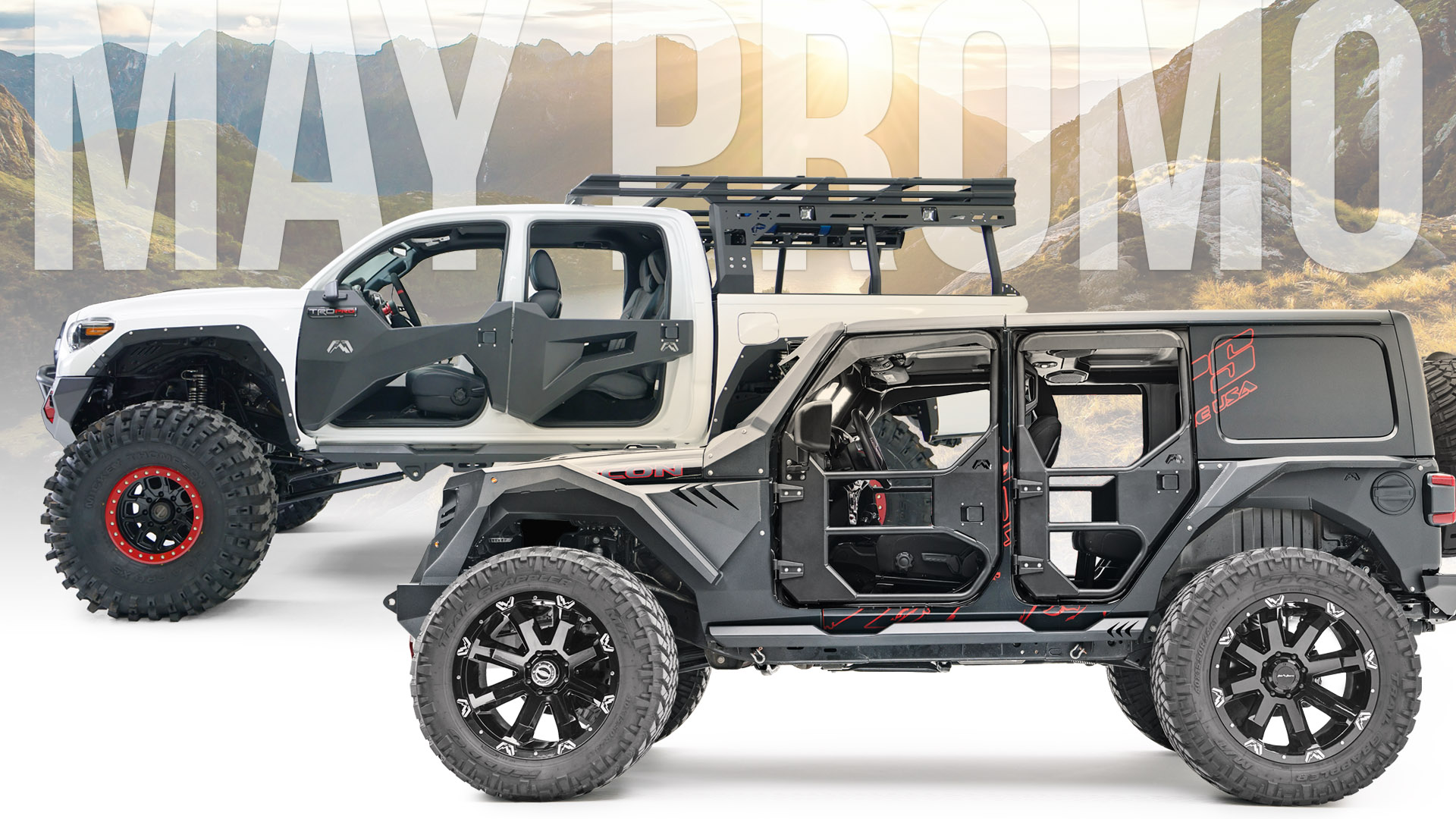 Toyota Tacoma and Jeep Trail Doors